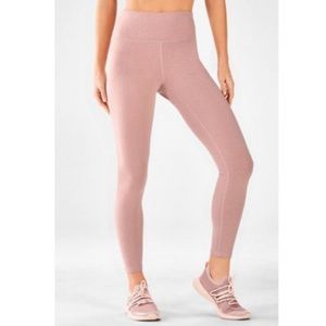 Fabletics leggings in light heathered pink